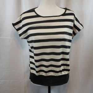 J.Crew Biat neck Top with short Sleeves  size M
